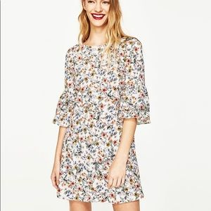 Zara Flutter Sleeve Dress